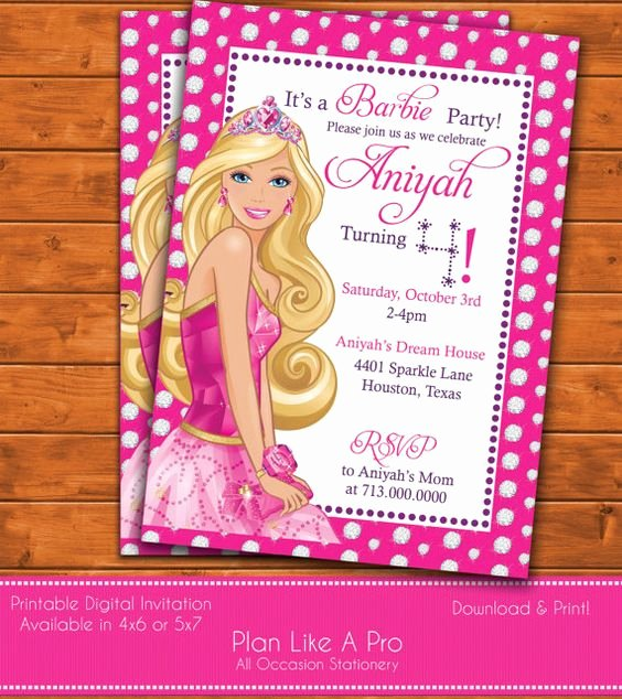Barbie Invitations Templates Free New Birthday Party Invitations Barbie and Free Printable