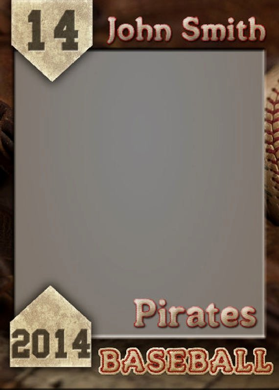 Baseball Card Template Photoshop Free Elegant Items Similar to Baseball Trading Card Shop