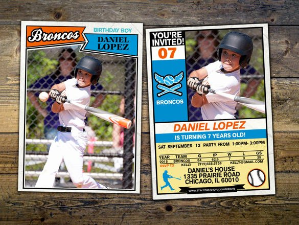 Baseball Card Template Photoshop Free Fresh 16 Baseball Card Templates Psd Ai Eps