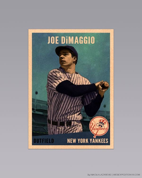 Baseball Card Template Photoshop Free Inspirational Design A Vintage Baseball Card In Shop