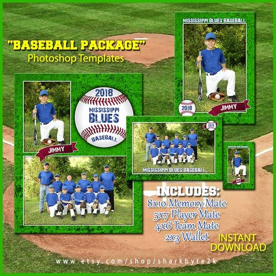 Baseball Card Template Photoshop Free Lovely 2017 Baseball Template Package for Shop Includes 8x10