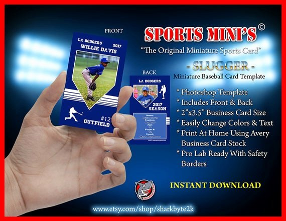 Baseball Card Template Photoshop Free Lovely 2017 Miniature Baseball Card Shop Template for Printing