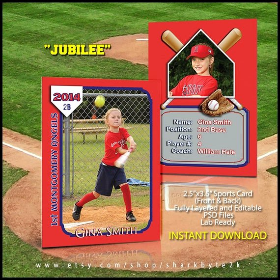 Baseball Card Template Photoshop Free New 2017 Baseball Sports Trader Card Template for Shop