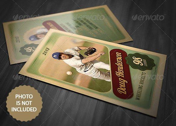 Baseball Card Template Photoshop Free Unique 16 Baseball Card Templates Psd Ai Eps