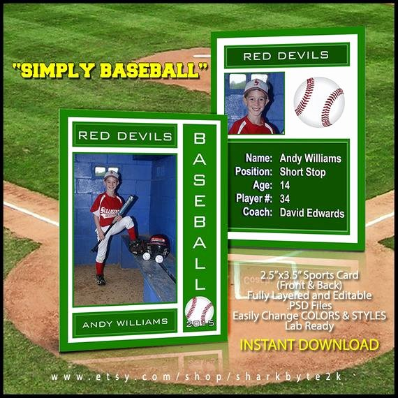 Baseball Card Template Photoshop Free Unique 2017 Baseball Sports Trader Card Template for Shop Simply