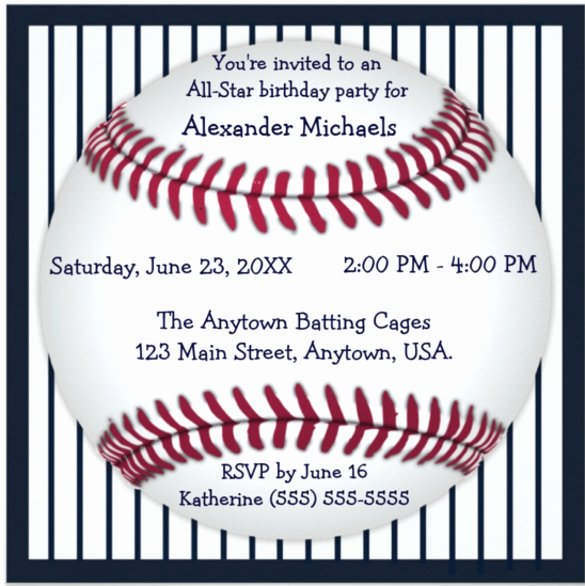 Baseball Invitation Template Free Beautiful 17 Baseball Birthday Invitations Psd Vector Eps Ai