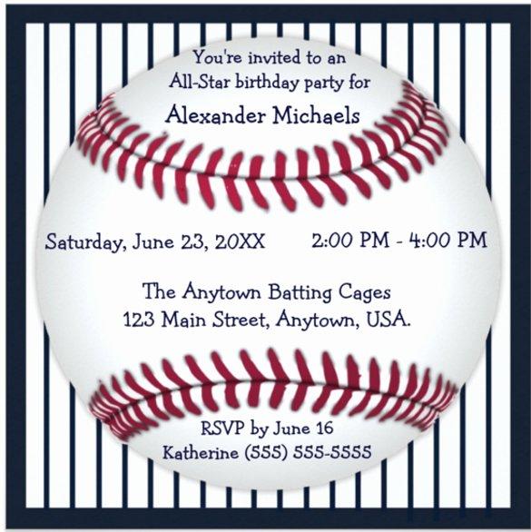 Baseball Invitation Template Free Beautiful 17 Baseball Birthday Invitations Psd Vector Eps Ai