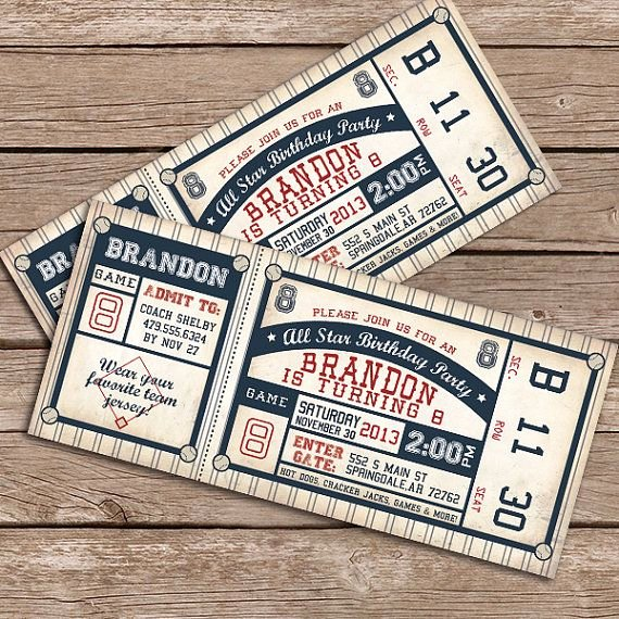 Baseball Invitation Template Free Beautiful Baseball Invitation Printable Invitation by