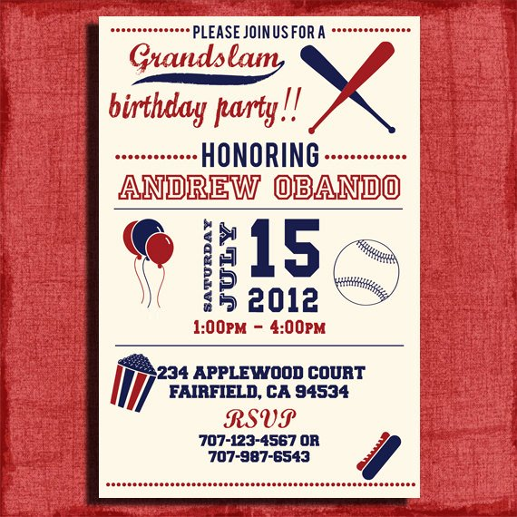 Baseball Invitation Template Free Best Of Free Printable Sports Birthday Invitations