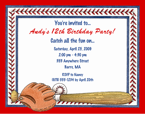 Baseball Invitation Template Free Elegant Free Printable Baseball Birthday Invitations