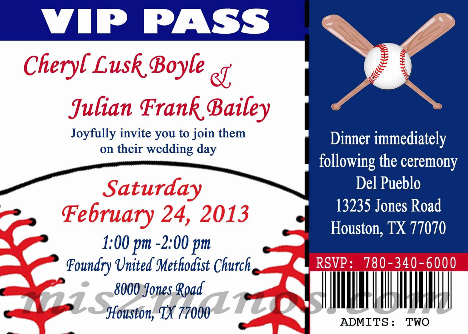 Baseball Invitation Template Free Fresh Baseball theme Wedding Party Printable Ticket Invitations Diy
