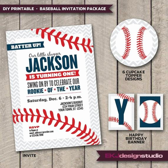 Baseball Invitation Template Free Fresh Items Similar to Diy Printable Baseball Rookie Of the Year