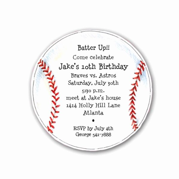 Baseball Invitation Template Free Inspirational Diecut Baseball Birthday Party Invitations