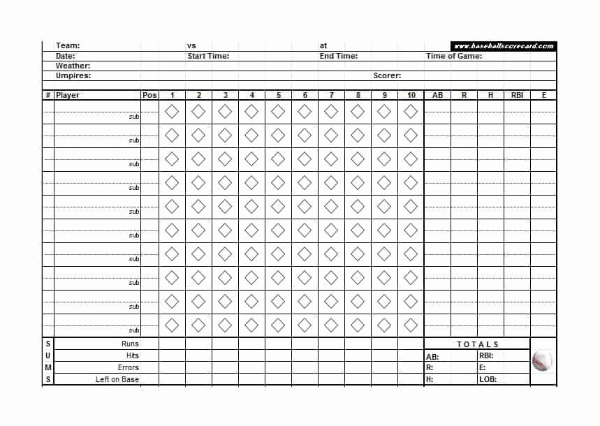 Baseball Line Up Sheets Inspirational 8 Baseball Individual Stat Sheet Templates Word Excel
