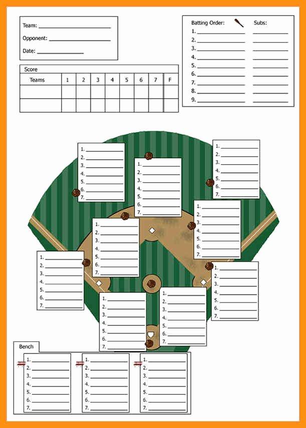 Baseball Lineup Card Excel Elegant Baseball Lineup Card Template Abstract Sample – Kukkoblock