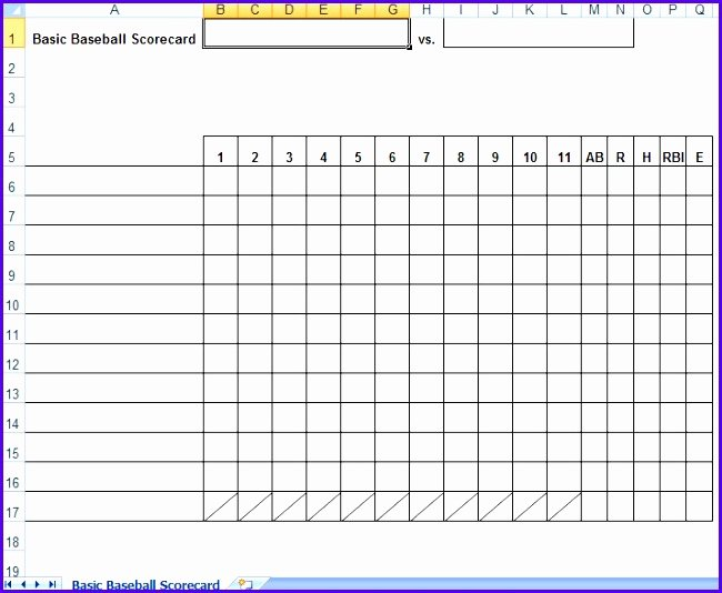 Baseball Lineup Card Excel Luxury 12 Baseball Lineup Excel Template Exceltemplates