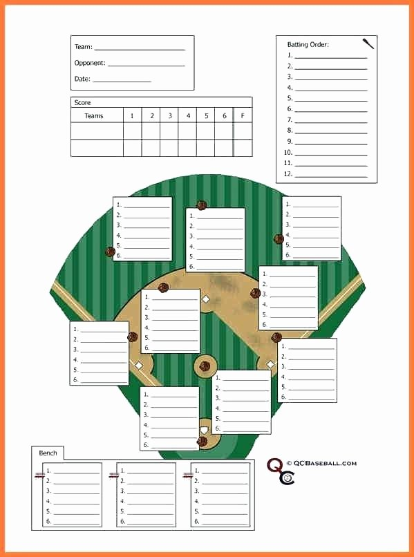 Baseball Lineup Card Generator Beautiful Free Baseball Batting Lineup Sheet – Rsenterprises