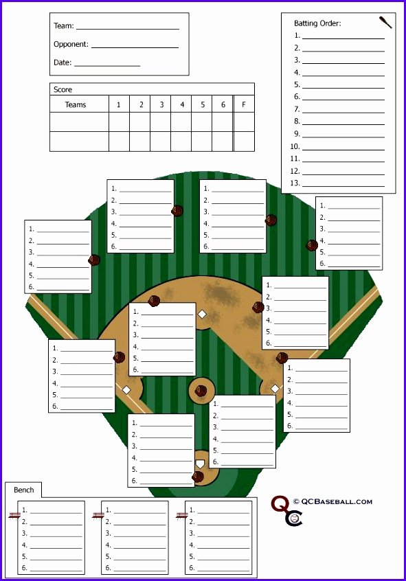 Baseball Lineup Template Beautiful 8 Baseball Lineup Excel Template Exceltemplates