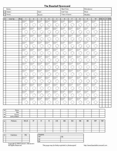 Baseball Score Book Template Awesome the Baseball Scorecard Printables & Template for 2nd
