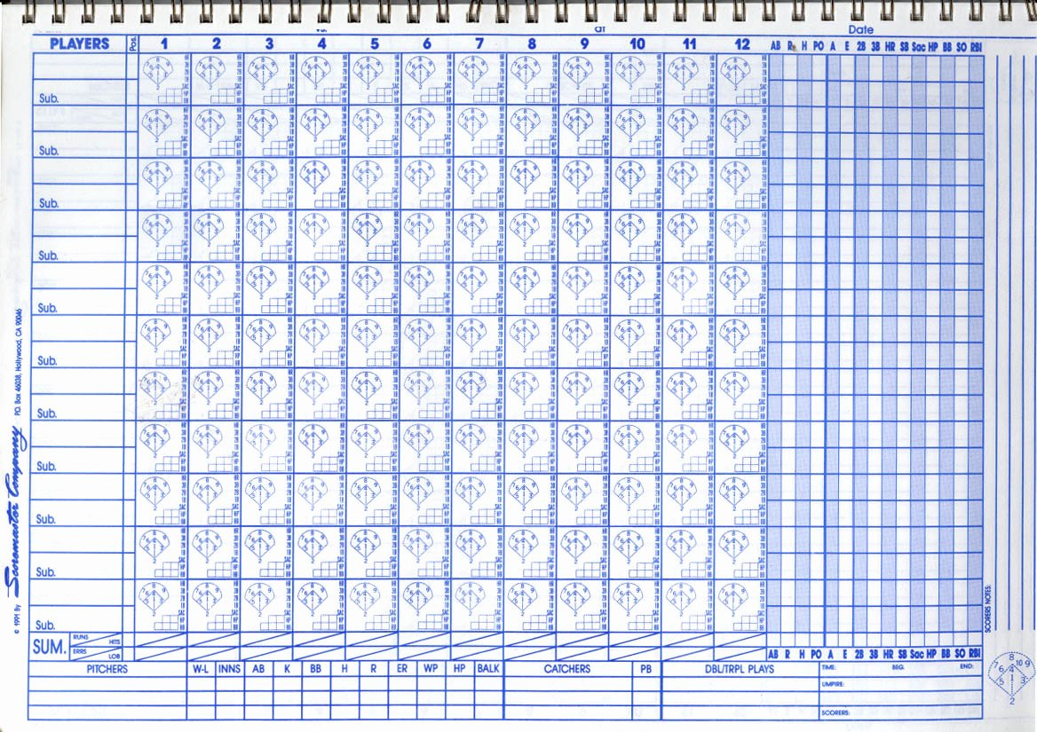 Baseball Score Book Template Elegant Baseball Score Sheet 2018