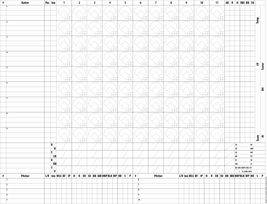 Baseball Score Book Template Fresh Baseball Scorekeeping