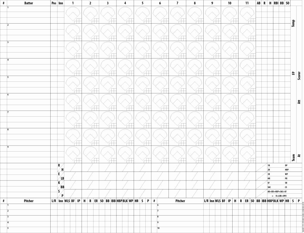 Baseball Score Sheet Template Beautiful Baseball Scorekeeping