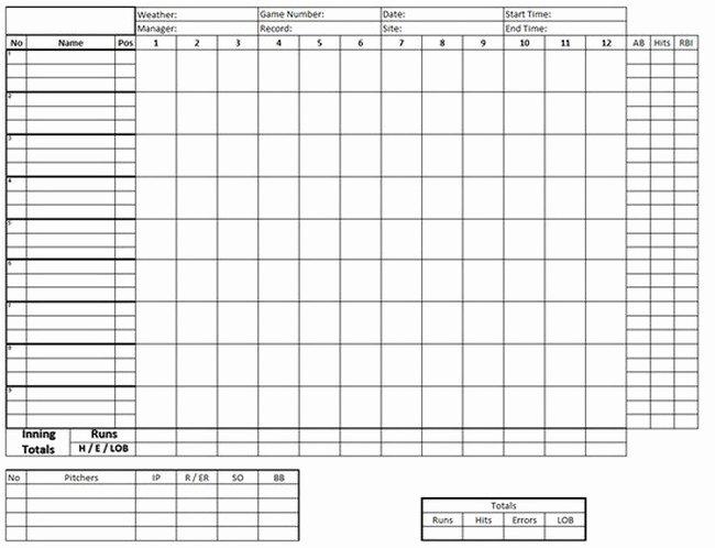 Baseball Score Sheet Template Fresh Baseball Stats Spreadsheet