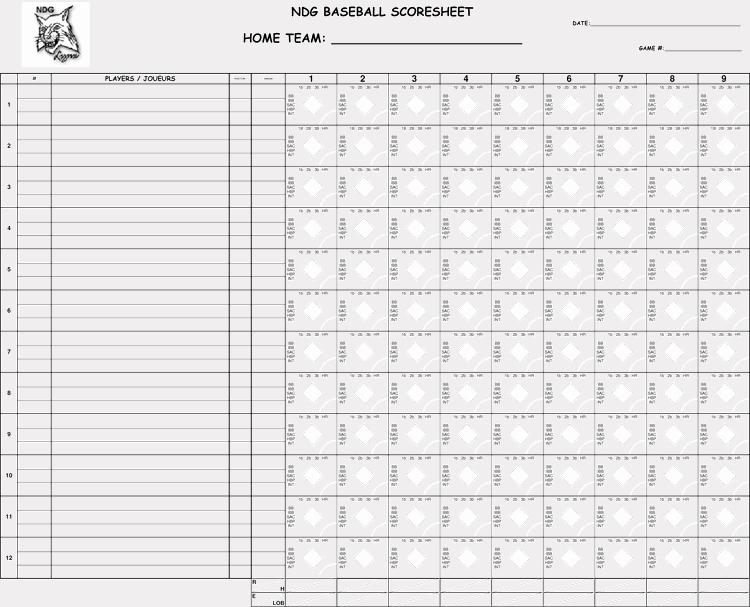 Baseball Score Sheet Template Inspirational Printable Baseball Scorecards Scoresheets Pdf