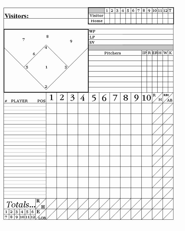 Baseball Scorekeeping Cheat Sheet Lovely Printable Baseball Score Sheets