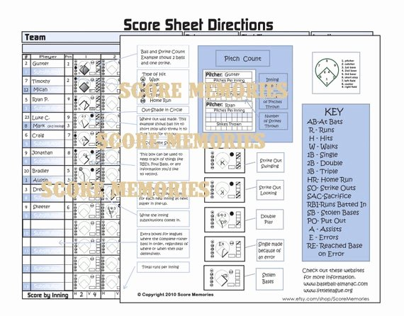 Baseball Scorekeeping Cheat Sheet New How to Keep Score In Baseball Cheat Sheet