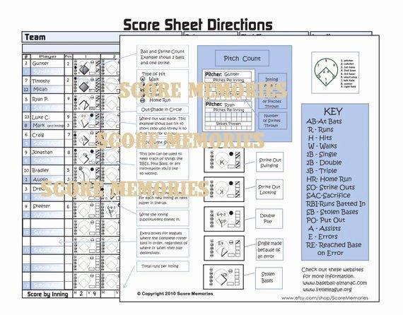 Baseball Scorekeeping Cheat Sheet New How to Keep Score In Baseball Cheat Sheet