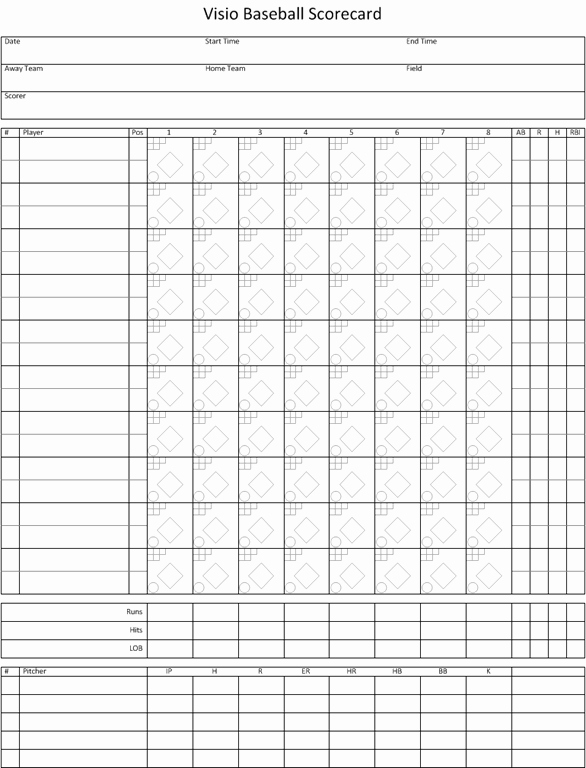 Baseball Scoring Sheet Printable Best Of Visio Baseball Scorecard – Visio Insights