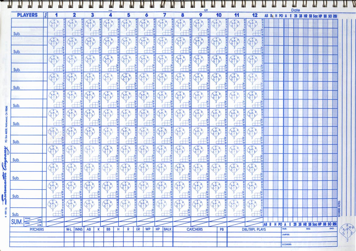 Baseball Scoring Sheet Printable Luxury Baseball Scorekeeping is Ting Shifty