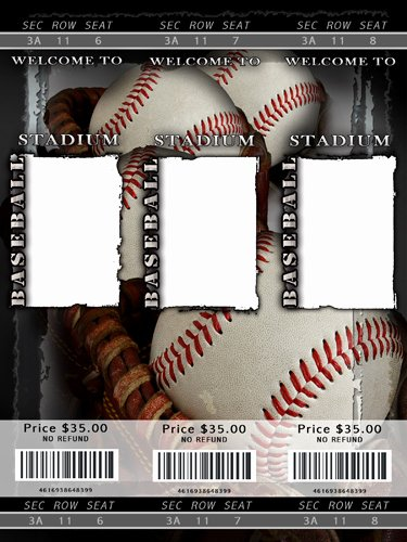Baseball Ticket Template Free Beautiful Baseball Templates
