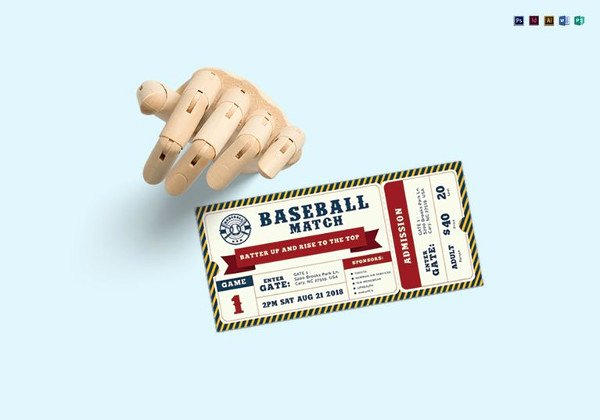Baseball Ticket Template Free Best Of 115 Ticket Templates Word Excel Pdf Psd Eps