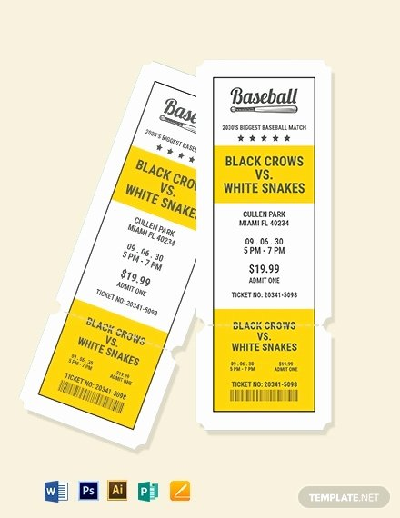 Baseball Ticket Template Free Best Of 21 Baseball Ticket Templates Free Psd Ai Vector Eps