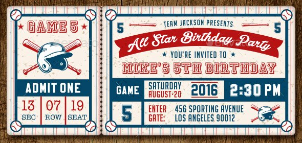 Baseball Ticket Template Free Fresh 25 Awesome Psd Ticket Invitation Design Templates – Bashooka