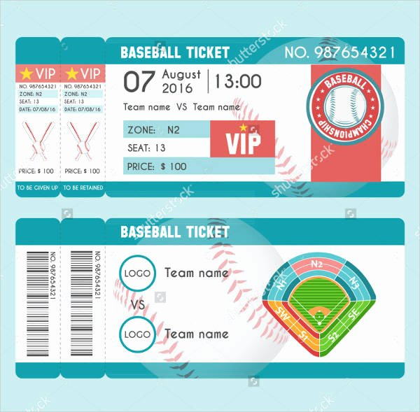 Baseball Ticket Template Free Lovely 21 Baseball Ticket Templates Free Psd Ai Vector Eps