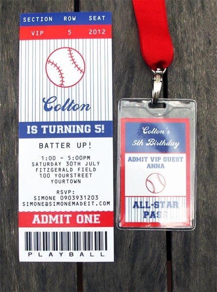 Baseball Ticket Template Free New Free Ticket Invitation Template
