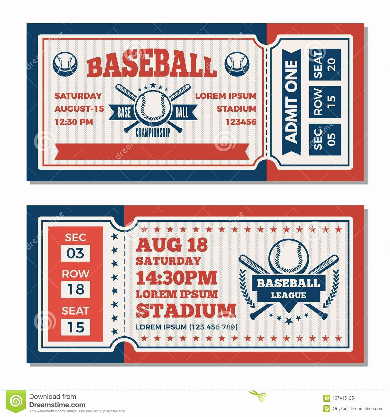 Baseball Ticket Template Free Unique Tickets Design Template at Baseball tournament Stock