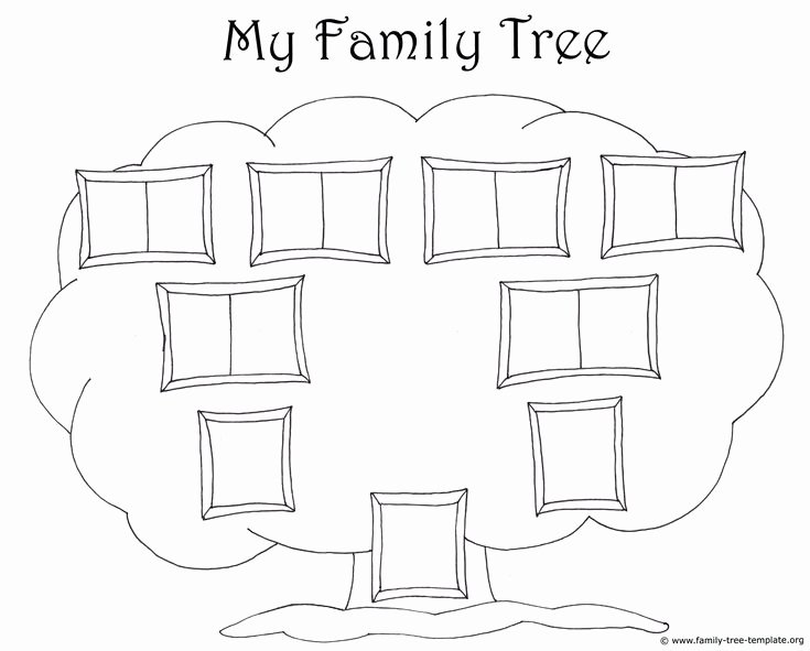 Basic Family Tree Template Awesome Simple Family Chart to Color