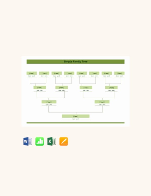 Basic Family Tree Template Best Of 35 Family Tree Templates Word Pdf Psd Apple Pages