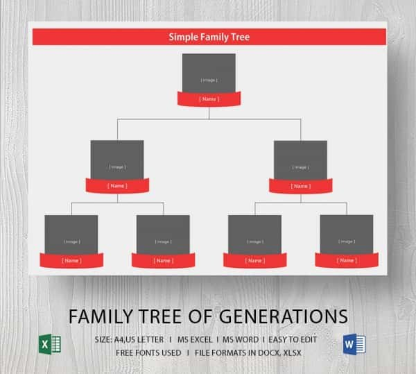 Basic Family Tree Template Best Of Simple Family Tree Template 25 Free Word Excel Pdf
