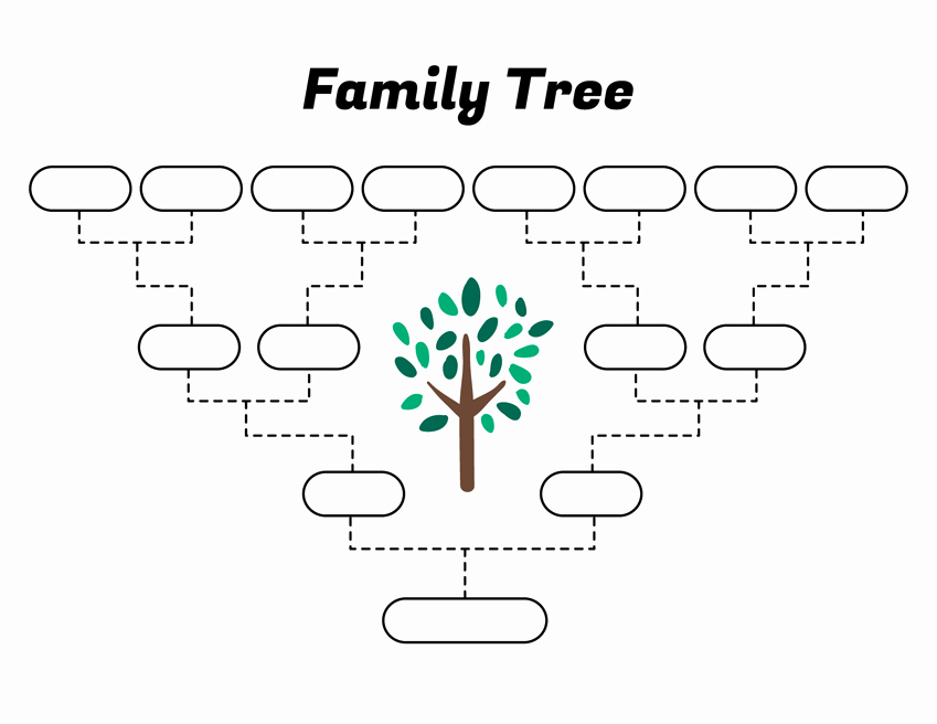 Basic Family Tree Template Inspirational Simple Family Tree Template – Free Family Tree Templates