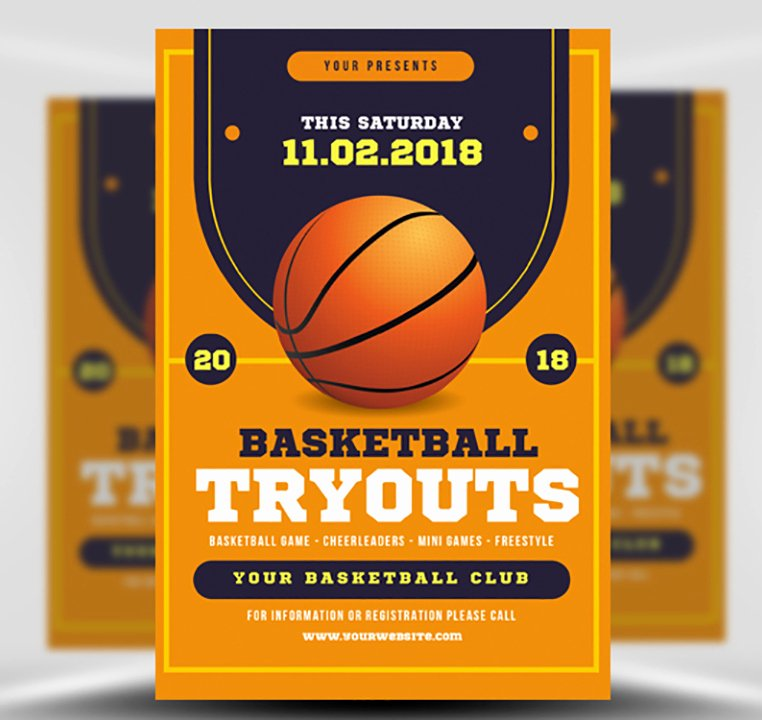 Basketball Flyer Template Word Beautiful Basketball Tryouts Flyer Template Flyerheroes