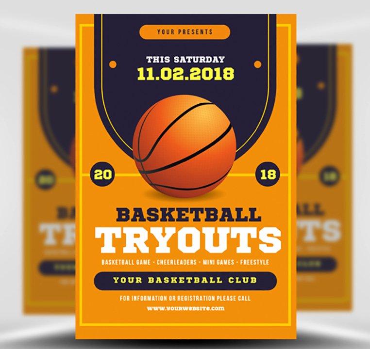 Basketball Flyer Template Word Beautiful Basketball Tryouts Flyer Template Flyerheroes