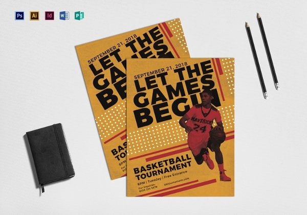 Basketball Flyer Template Word Inspirational 36 Sports Flyer Templates Psd Word Ai Publisher
