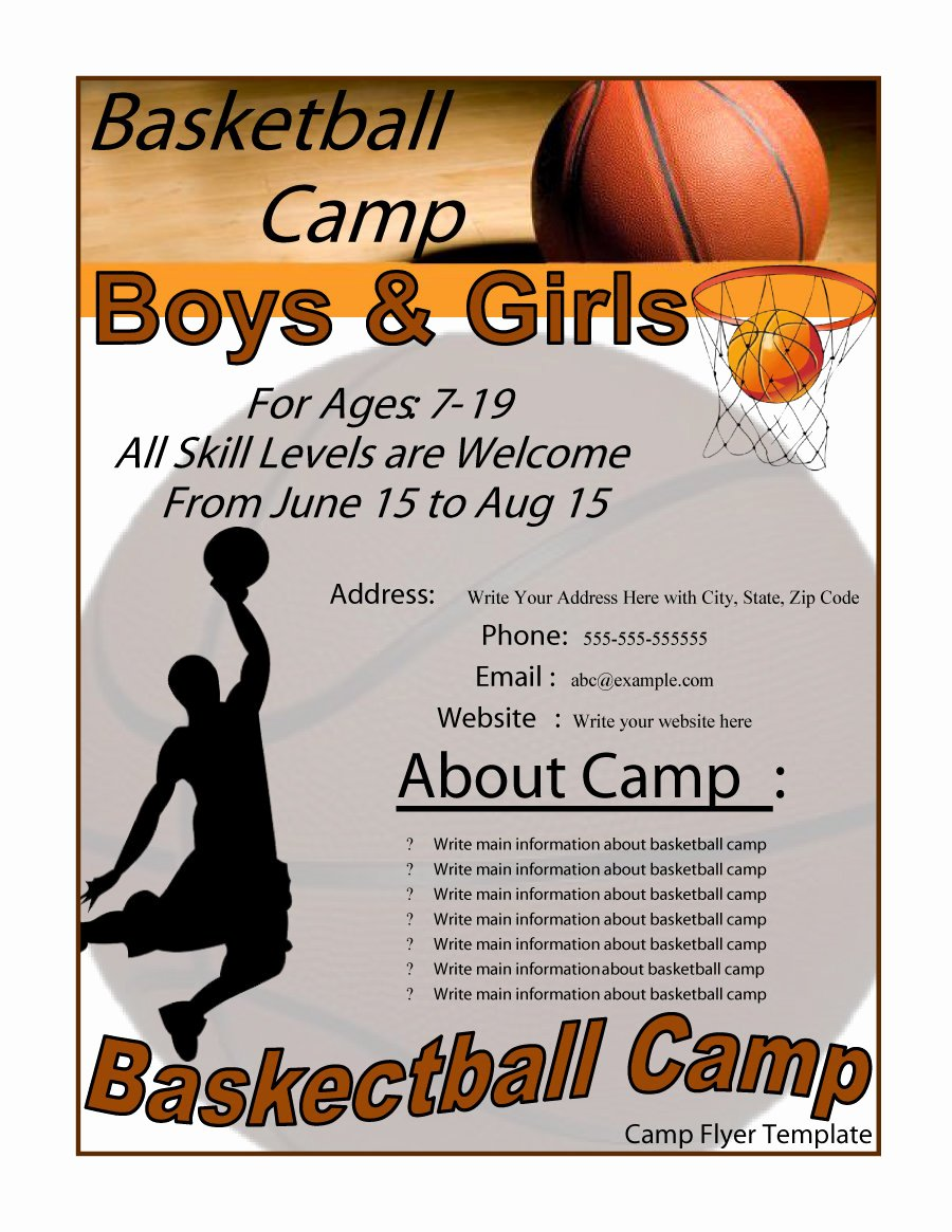 Basketball Flyer Template Word Lovely 41 Amazing Free Flyer Templates [event Party Business