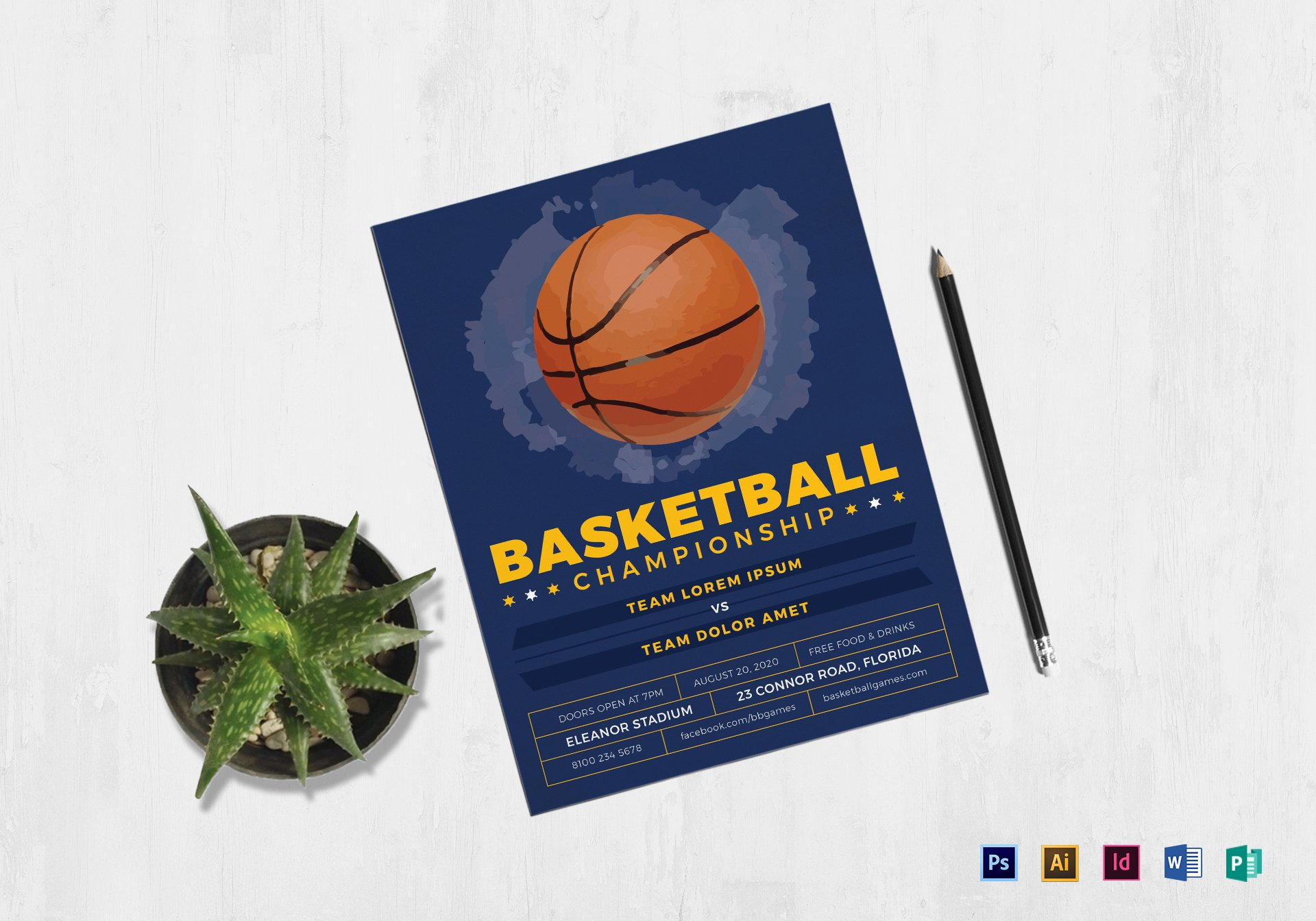 Basketball Flyer Template Word Lovely Basketball Flyer Design Template In Psd Word Publisher