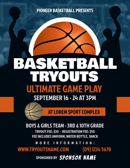 Basketball Flyer Template Word Lovely Copy Of Basketball Tryouts Flyer